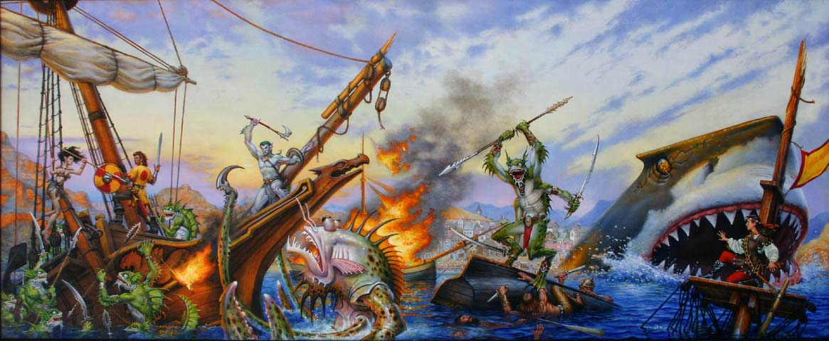 The Threat From The Sea Trilogy Forgotten Realms Cover